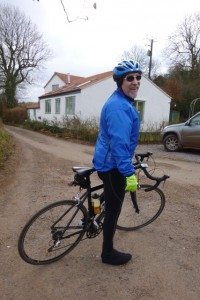 Martyn on bike