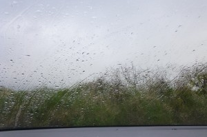 rainy windscreen