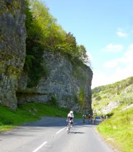 Cheddar Gorge behind
