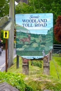 toll road scenic sign