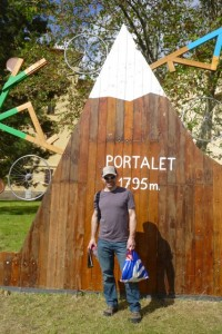 Chris in front of the Portalet