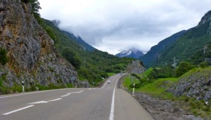 test ride on the Col de Somport