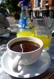 coffee and orangina