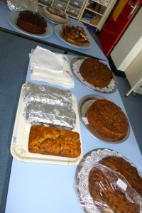 second table of cakes