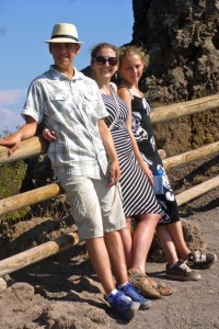 three on vesuvius