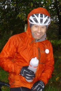 a wet but cheerful Chris