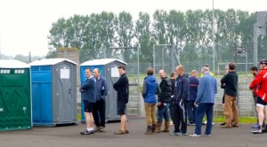 HQ toilet queue