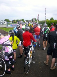 riders penned up