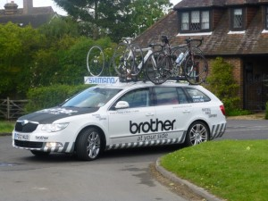 support car arriving