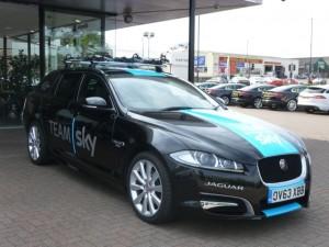 Team Sky car