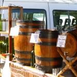 vino in barrels