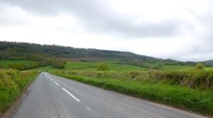 Lydart hill ahead