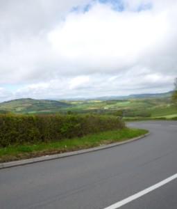 Lydart hill behind