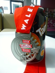 medal and orange