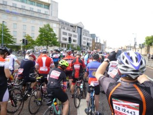 riders to the front