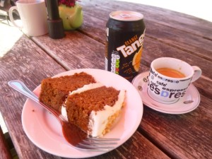 sometimes I eat cake too...well, gluten free carrot cake anyway ;)