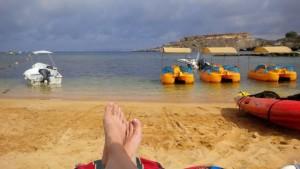 life's a Maltese beach