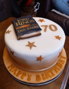 Dad's 70th birthday cake