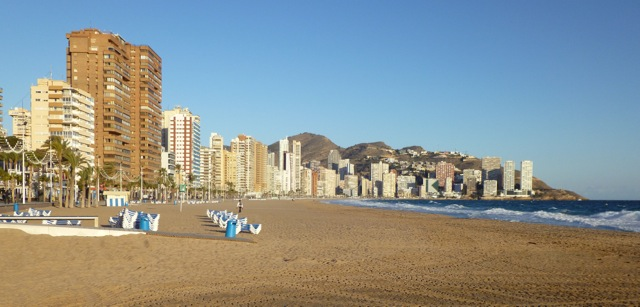 Benidorm beach view