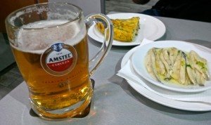 beer and tapas