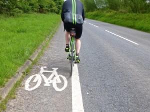 cycle lane close up
