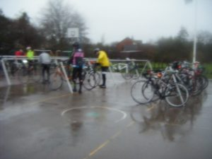 wet bikes waiting in hope